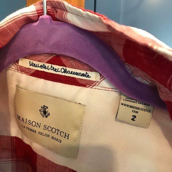 Maison Scotch Plaid Dress Shirt